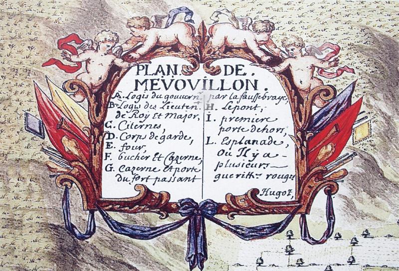 Légende du plan (17e siècle)