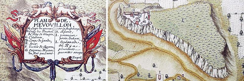 Plan de Mévouillon (17° siècle)