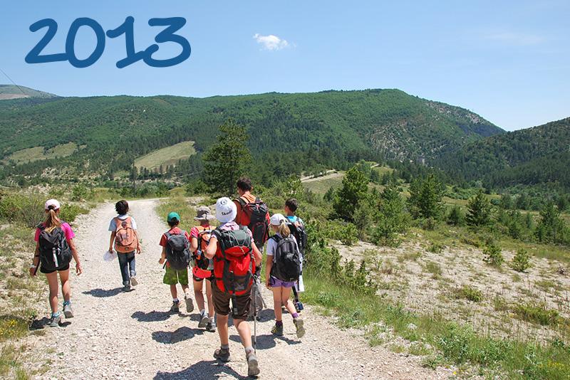 2013 - sortie avec l'école de Buis. Du Poët à Aulan