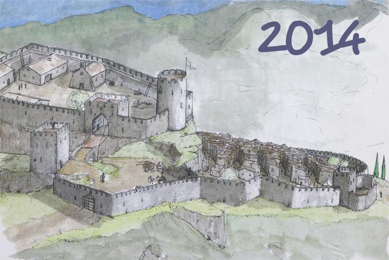 2014 Le fort de Mévouillon (dessin Matthieu)